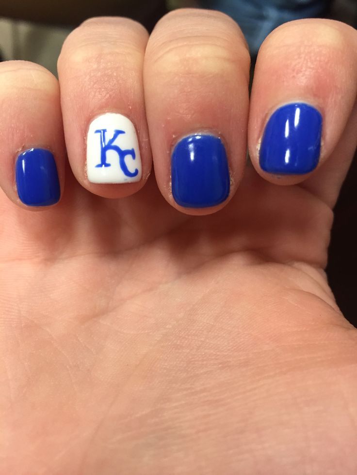 Solar Nails Westport KC Royals Nail Designs