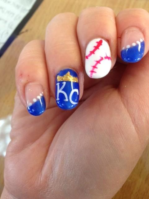 Solar Nails Westport KC Royals Nail designs