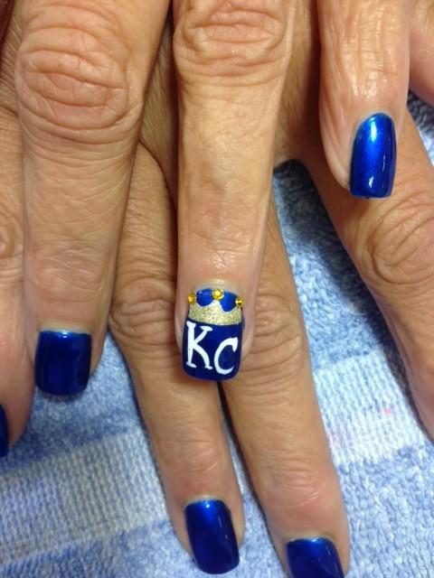 KC Royals Nail Design World Series 2015 Solar Nails Westport