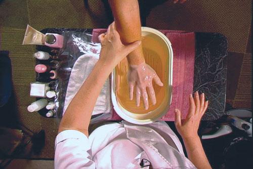 parafin wax treatment Solar Nails Westport Kansas City