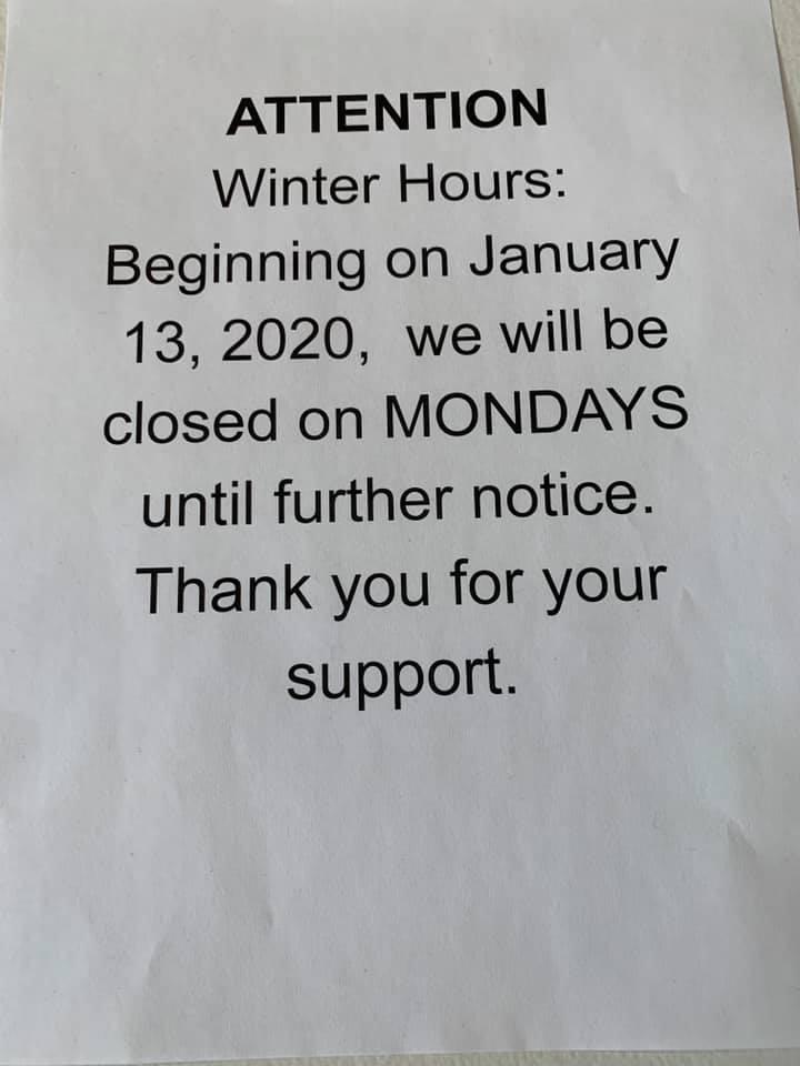 Solar Nails Closed on Mondays
